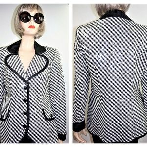80s Sequin Houndstooth Blazer Sz 6 - New Wave